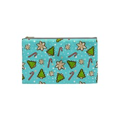 Ginger Cookies Christmas Pattern Cosmetic Bag (small)  by Valentinaart