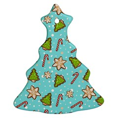 Ginger Cookies Christmas Pattern Ornament (christmas Tree)  by Valentinaart