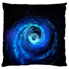Blue Black Hole Galaxy Standard Flano Cushion Case (one Side) by Mariart