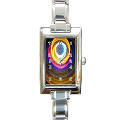 Colorful Glow Hole Space Rainbow Rectangle Italian Charm Watch by Mariart