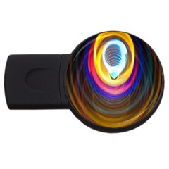 Colorful Glow Hole Space Rainbow Usb Flash Drive Round (2 Gb) by Mariart