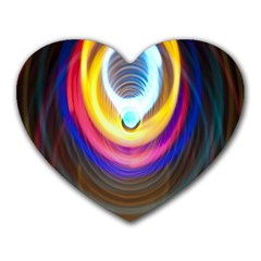 Colorful Glow Hole Space Rainbow Heart Mousepads by Mariart