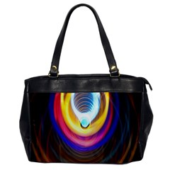 Colorful Glow Hole Space Rainbow Office Handbags by Mariart