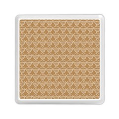 Cake Brown Sweet Memory Card Reader (square)  by Mariart
