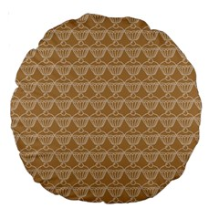 Cake Brown Sweet Large 18  Premium Round Cushions