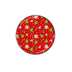 Ginger Cookies Christmas Pattern Hat Clip Ball Marker by Valentinaart