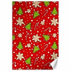 Ginger Cookies Christmas Pattern Canvas 20  X 30   by Valentinaart
