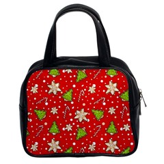Ginger Cookies Christmas Pattern Classic Handbags (2 Sides) by Valentinaart