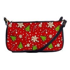 Ginger Cookies Christmas Pattern Shoulder Clutch Bags by Valentinaart