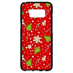 Ginger Cookies Christmas Pattern Samsung Galaxy S8 Black Seamless Case by Valentinaart