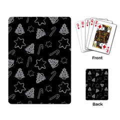 Ginger Cookies Christmas Pattern Playing Card by Valentinaart