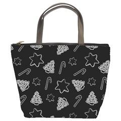 Ginger Cookies Christmas Pattern Bucket Bags by Valentinaart