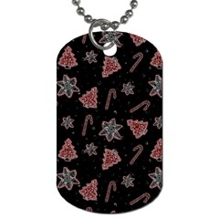 Ginger Cookies Christmas Pattern Dog Tag (two Sides) by Valentinaart