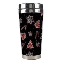 Ginger Cookies Christmas Pattern Stainless Steel Travel Tumblers by Valentinaart