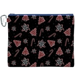 Ginger Cookies Christmas Pattern Canvas Cosmetic Bag (xxxl) by Valentinaart