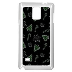 Ginger Cookies Christmas Pattern Samsung Galaxy Note 4 Case (white) by Valentinaart