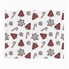 Ginger Cookies Christmas Pattern Small Glasses Cloth (2 Side) by Valentinaart