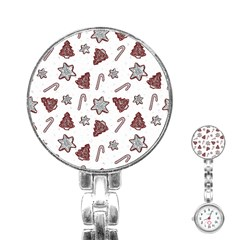 Ginger Cookies Christmas Pattern Stainless Steel Nurses Watch by Valentinaart