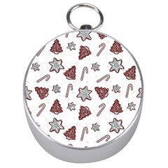 Ginger Cookies Christmas Pattern Silver Compasses by Valentinaart