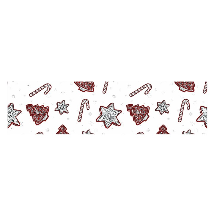 Ginger cookies Christmas pattern Satin Scarf (Oblong)