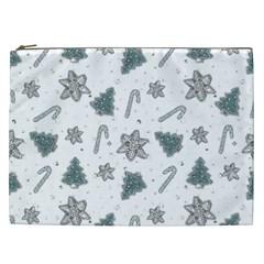 Ginger Cookies Christmas Pattern Cosmetic Bag (xxl)  by Valentinaart