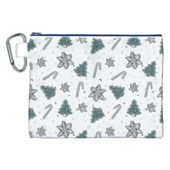 Ginger Cookies Christmas Pattern Canvas Cosmetic Bag (xxl) by Valentinaart