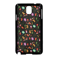 Christmas Pattern Samsung Galaxy Note 3 Neo Hardshell Case (black) by Valentinaart