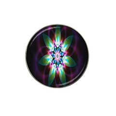 Colorful Fractal Flower Star Green Purple Hat Clip Ball Marker (10 Pack) by Mariart