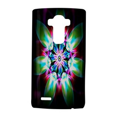 Colorful Fractal Flower Star Green Purple Lg G4 Hardshell Case by Mariart