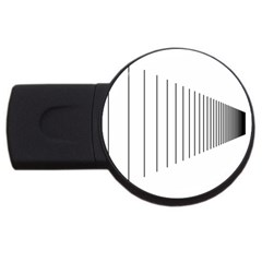 Fence Line Black Usb Flash Drive Round (2 Gb) by Mariart