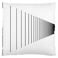 Fence Line Black Large Cushion Case (two Sides) by Mariart