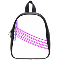 Electricty Power Pole Blue Pink School Bag (small) by Mariart