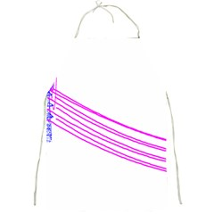 Electricty Power Pole Blue Pink Full Print Aprons by Mariart