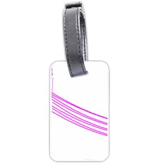 Electricty Power Pole Blue Pink Luggage Tags (one Side)  by Mariart