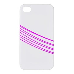 Electricty Power Pole Blue Pink Apple Iphone 4/4s Premium Hardshell Case by Mariart
