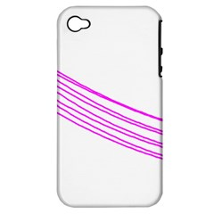 Electricty Power Pole Blue Pink Apple Iphone 4/4s Hardshell Case (pc+silicone) by Mariart