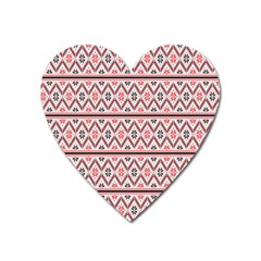 Clipart Embroidery Star Red Line Black Heart Magnet by Mariart