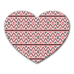 Clipart Embroidery Star Red Line Black Heart Mousepads by Mariart