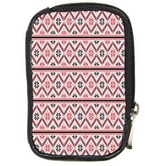 Clipart Embroidery Star Red Line Black Compact Camera Cases by Mariart