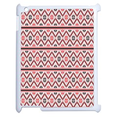 Clipart Embroidery Star Red Line Black Apple Ipad 2 Case (white) by Mariart