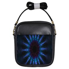 Exploding Flower Tunnel Nature Amazing Beauty Animation Blue Purple Girls Sling Bags by Mariart