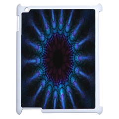 Exploding Flower Tunnel Nature Amazing Beauty Animation Blue Purple Apple Ipad 2 Case (white) by Mariart