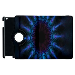 Exploding Flower Tunnel Nature Amazing Beauty Animation Blue Purple Apple Ipad 2 Flip 360 Case by Mariart