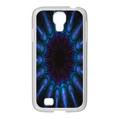 Exploding Flower Tunnel Nature Amazing Beauty Animation Blue Purple Samsung Galaxy S4 I9500/ I9505 Case (white) by Mariart