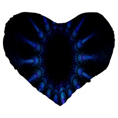 Exploding Flower Tunnel Nature Amazing Beauty Animation Blue Purple Large 19  Premium Flano Heart Shape Cushions by Mariart