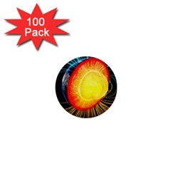 Cross Section Earth Field Lines Geomagnetic Hot 1  Mini Buttons (100 Pack)  by Mariart