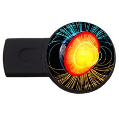 Cross Section Earth Field Lines Geomagnetic Hot Usb Flash Drive Round (4 Gb) by Mariart