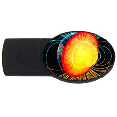 Cross Section Earth Field Lines Geomagnetic Hot Usb Flash Drive Oval (4 Gb) by Mariart