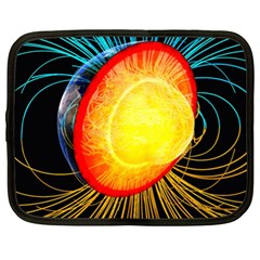 Cross Section Earth Field Lines Geomagnetic Hot Netbook Case (xl)  by Mariart