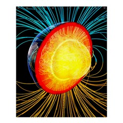 Cross Section Earth Field Lines Geomagnetic Hot Shower Curtain 60  X 72  (medium)  by Mariart